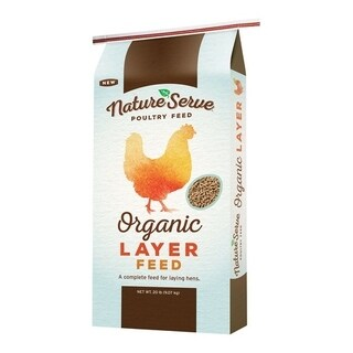 NatureServe Organic Layer Feed Pellets For Poultry 20 lb.