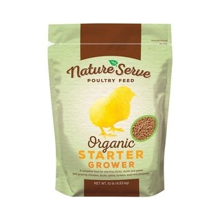 NatureServe Organic Starter/Grower Feed Granules For Poultry 10 lb.