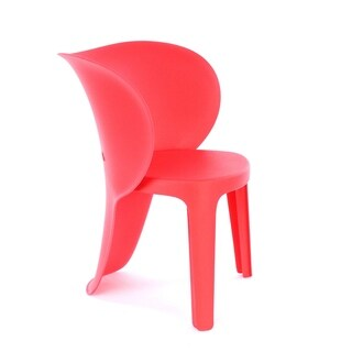 Elephant Inspirational Red Children's Chair (Set of 4)