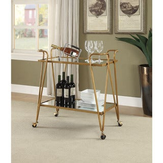 Rosa Gold Mid-Century Bar Cart