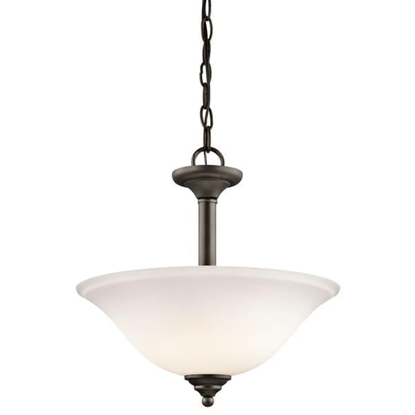 Kichler Lighting Armida Collection 2-light Olde Bronze LED Pendant/Semi-Flush Mount - Olde Bronze