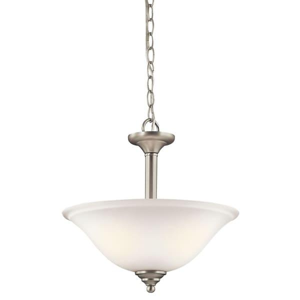 Kichler Lighting Armida Collection 2-light Brushed Nickel LED Pendant/Semi-Flush Mount - Brushed nickel