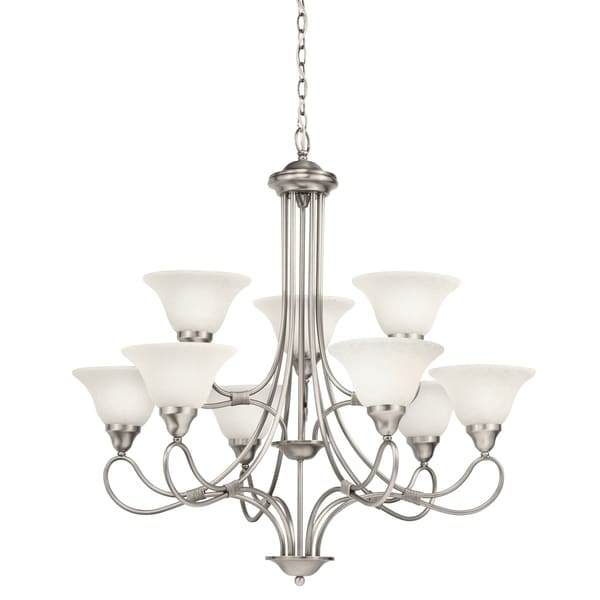 Kichler lighting stafford collection 9 light antique pewter kichler lighting stafford collection 9 light antique pewter chandelier antique pewter aloadofball Images