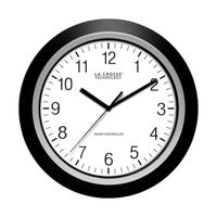 La Crosse Technology  13-1/2 in. L x 2 in. W Indoor  Casual  Analog  Wall Clock  Glass and Plastic  Black