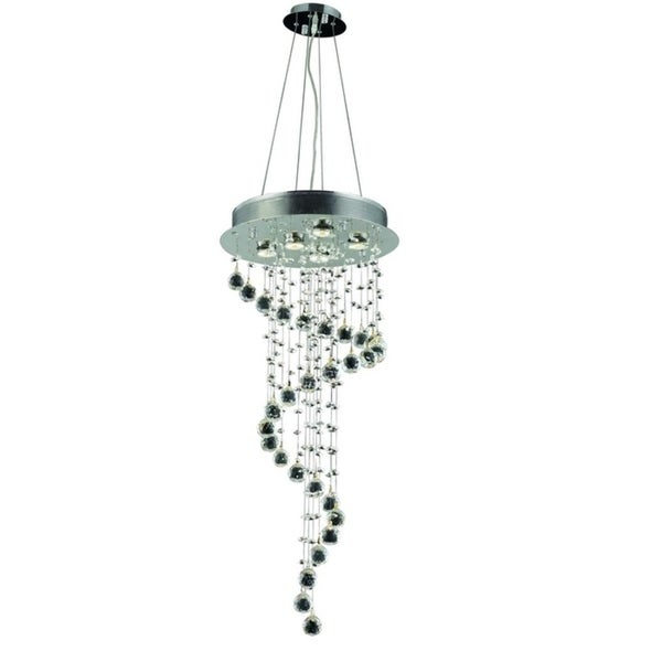 Galaxy 5-Light 36 in. Chrome Chandelier