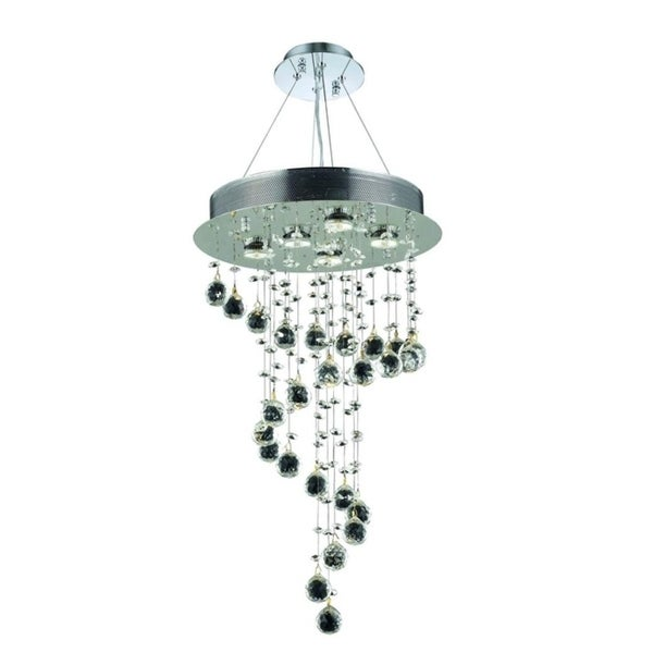 Galaxy 5-Light 26 in. Chrome Chandelier