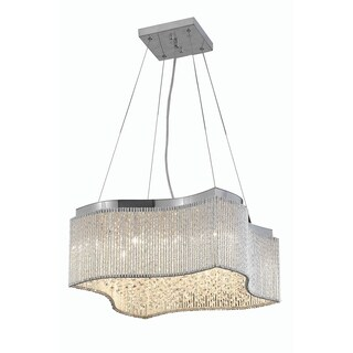 Influx 16-Light 20 in. Chrome Pendant with Royal Cut Crystals