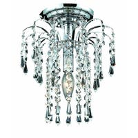 Falls 1-Light 9in. Flush Mount (Available in Chrome and Gold)