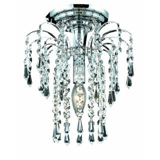 Falls 1-Light 9in. Flush Mount (Available in Chrome and Gold) (More options available)
