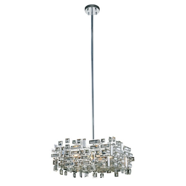 Picasso 4-Light 18 in. Chrome Pendant with Royal Cut Crystals
