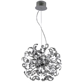 Tiffany 25-Light 27.5 in. Chrome Chandelier with Elegant Cut Crystals