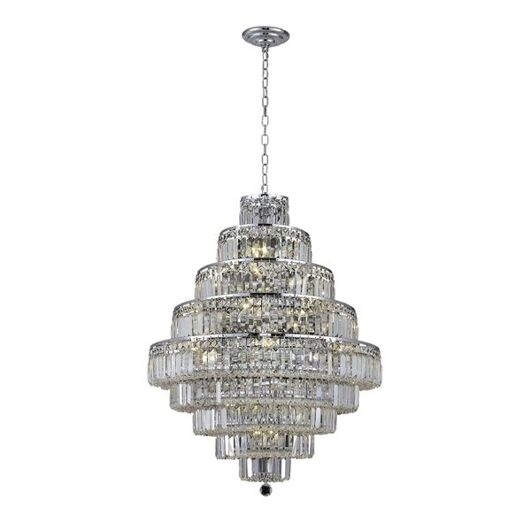 Maxime 20-Light 30 in. Chandelier (Available in Chrome and Gold)