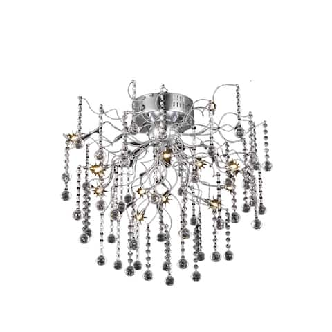 Astro 12-Light 24 in. Chrome Flush Mount with Royal Cut Crystals - chrome (royal cut crystals) - chrome (royal cut crystals)