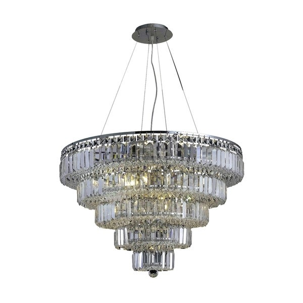 Maxime 17-Light 30 in. Chandelier (Available in Chrome and Gold)