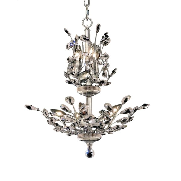 Orchid 8-Light 21 in. Chandelier (Available in Chrome, Dark Bronze, Gold)