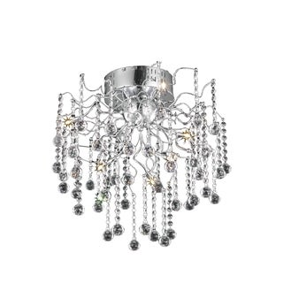 Astro 6-Light 18 in. Chrome Flush Mount with Royal Cut Crystals