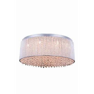 Influx 14-Light 24 in. Chrome Flush Mount with Royal Cut Crystals