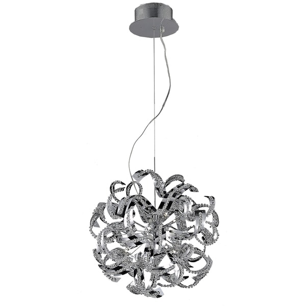 Tiffany 13-Light 22 in. Chrome Chandelier with Elegant Cut Crystals