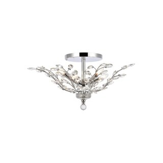 Orchid 6-Light 27 in. Flush Mount (Available in Chrome, Dark Bronze, Gold) (More options available)
