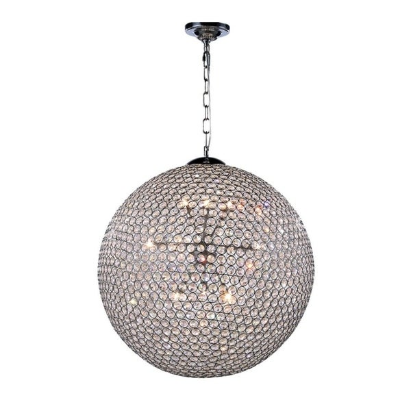 Cabaret 12-Light 24 in. Chrome Pendant with Royal Cut Crystals