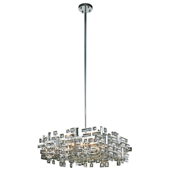 Picasso 6-Light 21 in. Chrome Pendant with Royal Cut Crystals