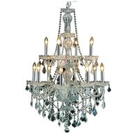 Elegant Lighting Giselle Steel with Royal Cut Crystals 12-light 28-inch Chandelier