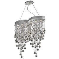Galaxy 6-Light 33 in. Chrome Chandelier