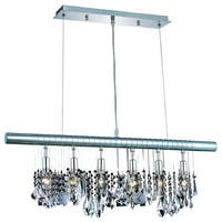 Chorus Line 6-Light 30 in. Chrome Chandelier with Royal Cut Crystals
