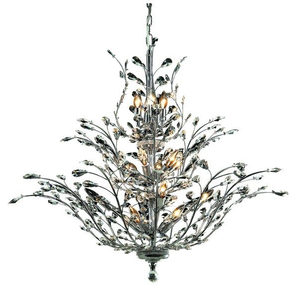 Orchid 18-Light 41 in. Chandelier (Available in Chrome, Dark Bronze, Gold)