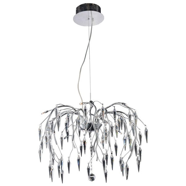 Amour 12-Light 24 in. Chrome Chandelier