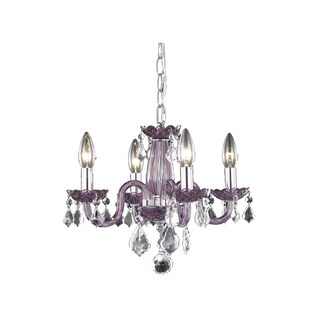 Rococo 4-Light 15 in. Pendant (Available in Chrome, Gold, Purple, Red)