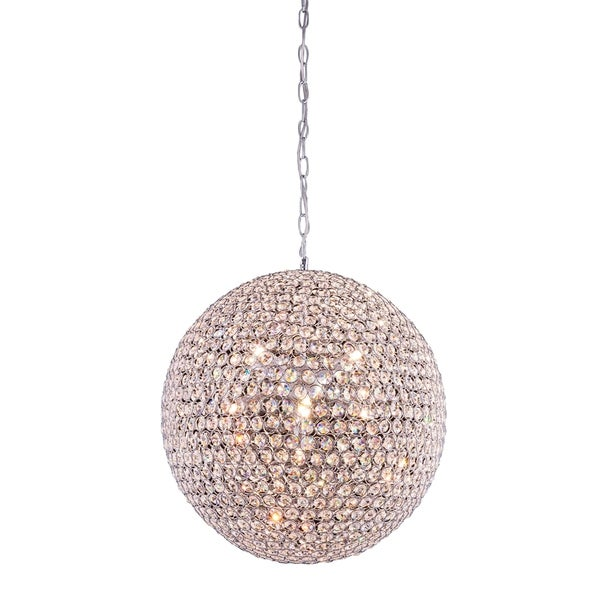 Cabaret 9-Light 20 in. Chrome Pendant with Royal Cut Crystals