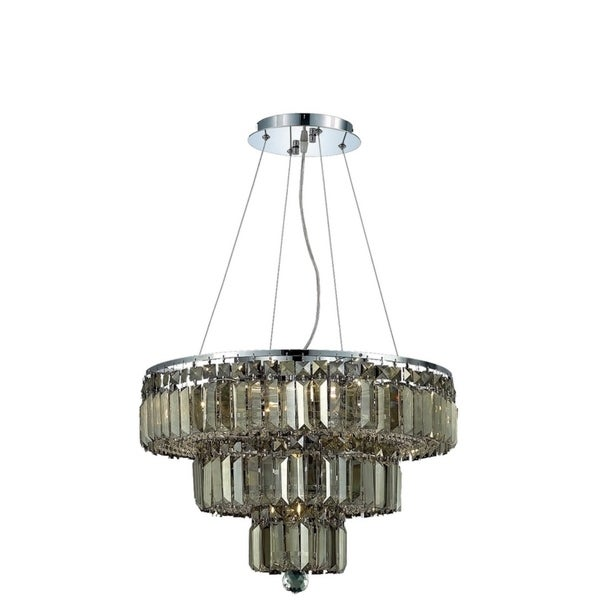 Maxime 9-Light 20 in. Chrome Chandelier (Available with Royal Cut Crystals or Swarovski® Elements Crystals)