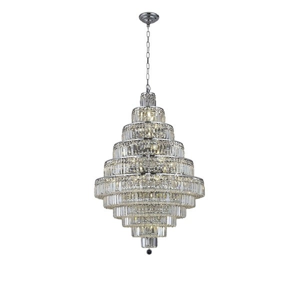 Maxime 30-Light 32 in. Chandelier (Available in Chrome and Gold)