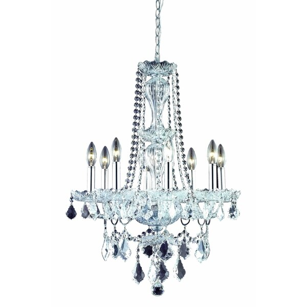 Elegant Lighting Giselle 8-Light 21-Inch Chandelier With Royal Cut Crystals