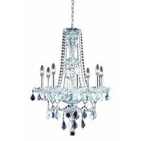 Giselle 8-Light 21 in. Chandelier with Royal Cut Crystals (Available in Chrome and Gold)