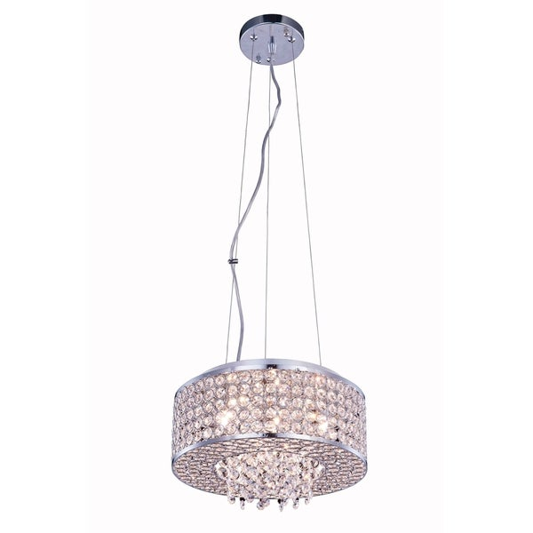 Amelie 4-Light 12 in. Chrome Pendant with Royal Cut Crystals