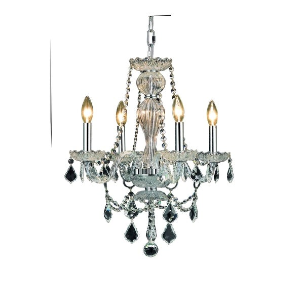 Giselle 4-Light 20 in. Chandelier with Royal Cut Crystals (Available in Chrome and Gold)