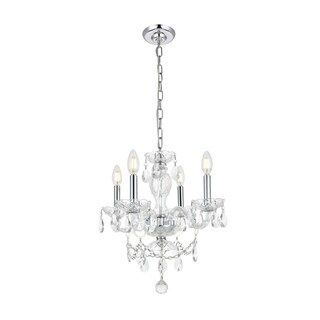 Princeton 4-Light 17 in. Pendant with Royal Cut Crystals (Available in Chrome, Gold, Purple, and Red)
