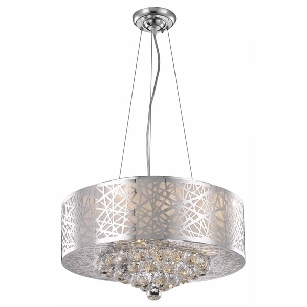 Prism 7-Light 20 in. Chrome Pendant with Royal Cut Crystals