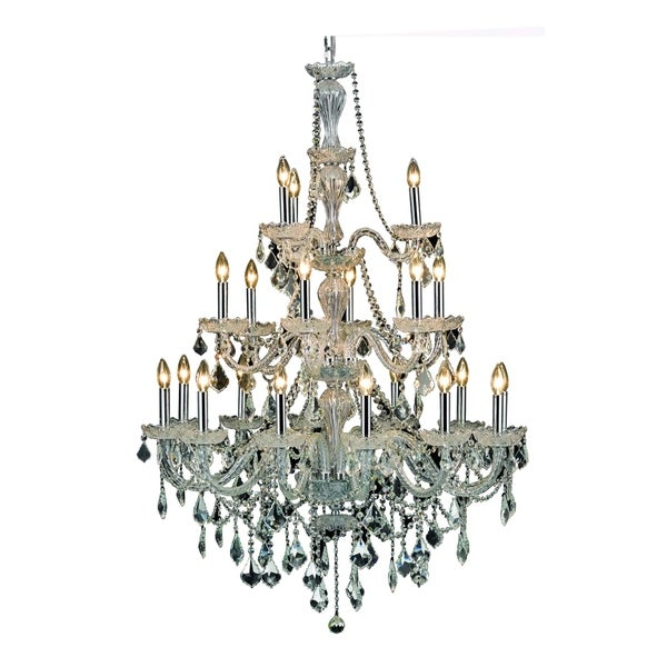 Giselle 21-Light 38 in. Chandelier with Royal Cut Crystals (Available in Chrome and Gold)