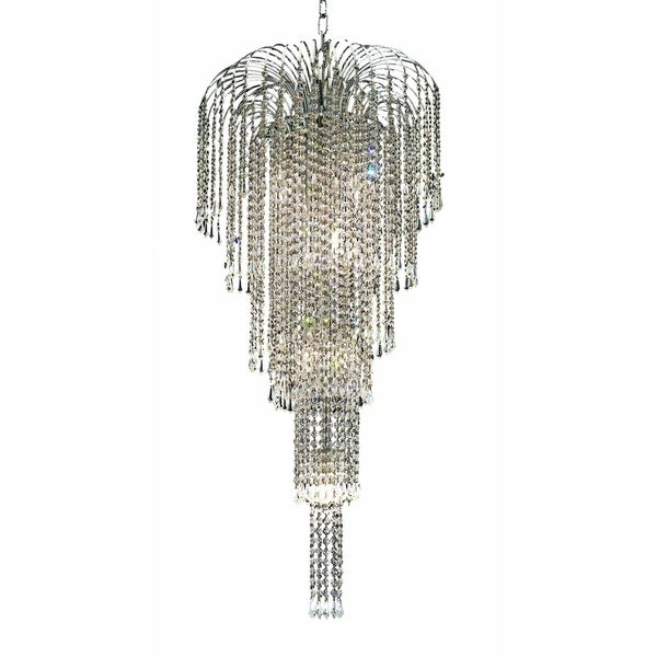 Falls 9-Light 19 in. Chandelier (Available in Chrome and Gold)