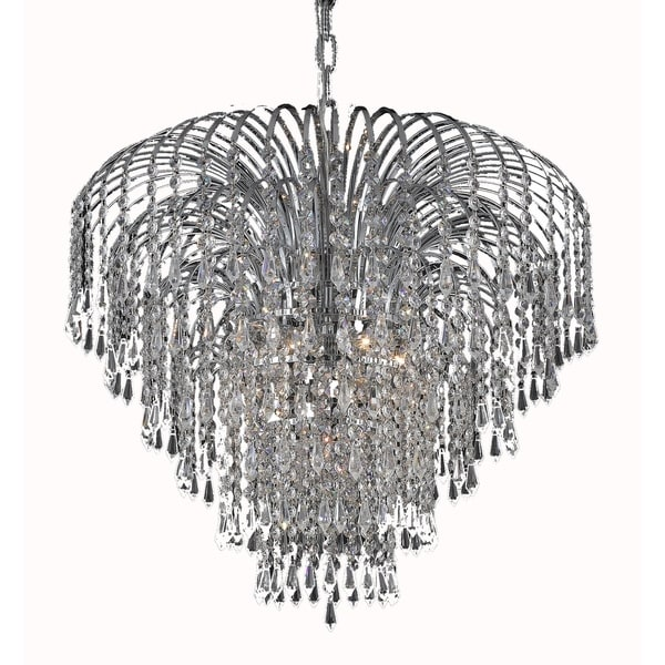 Falls 6-Light 25 in. Chandelier (Available in Chrome and Gold)