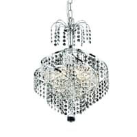 Spiral 3-Light 14 in. Pendant (Available in Chrome and Gold)