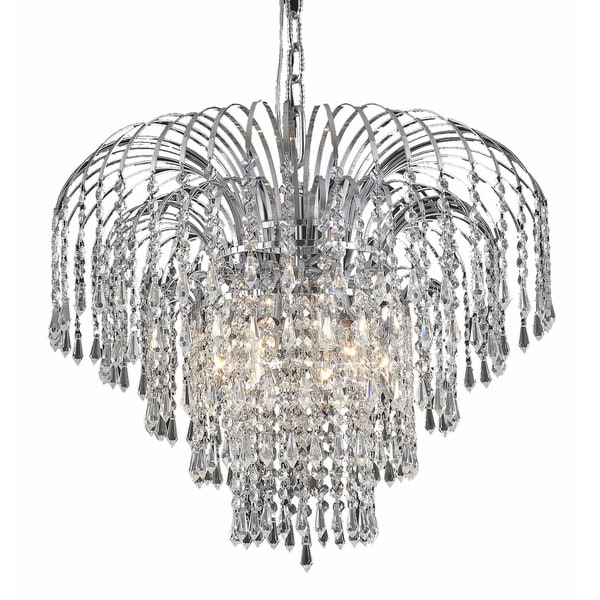Falls 6-Light 21 in. Chandelier (Available in Chrome and Gold)