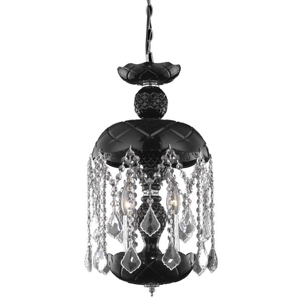 Elegant Lighting Rococo Steel with Royal Cut Crystals 11-inch Pendant