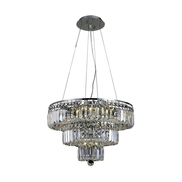 Maxime 9-Light 20 in. Chandelier (Available in Chrome and Gold)
