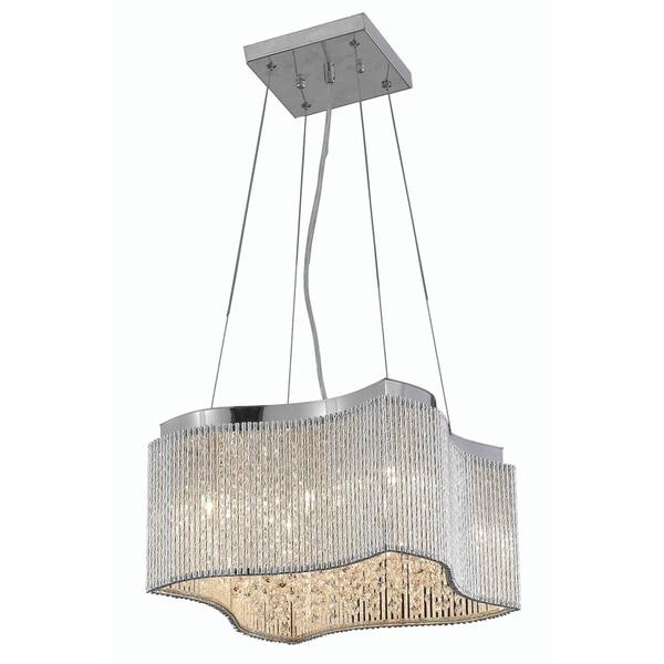 Elegant Lighting Influx Chrome Iron/Royal-cut Crystal 16-inch 8-light Pendant