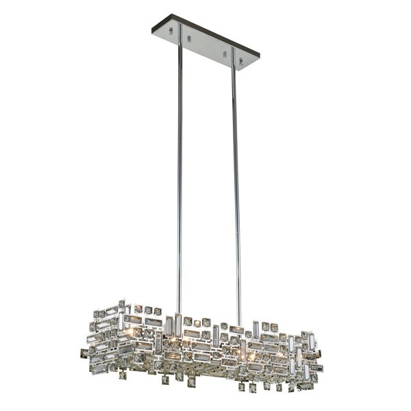 Picasso 6-Light 35 in. Chrome Pendant with Royal Cut Crystals