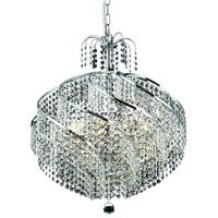Spiral 10-Light 22 in. Chandelier (Available in Chrome and Gold)
